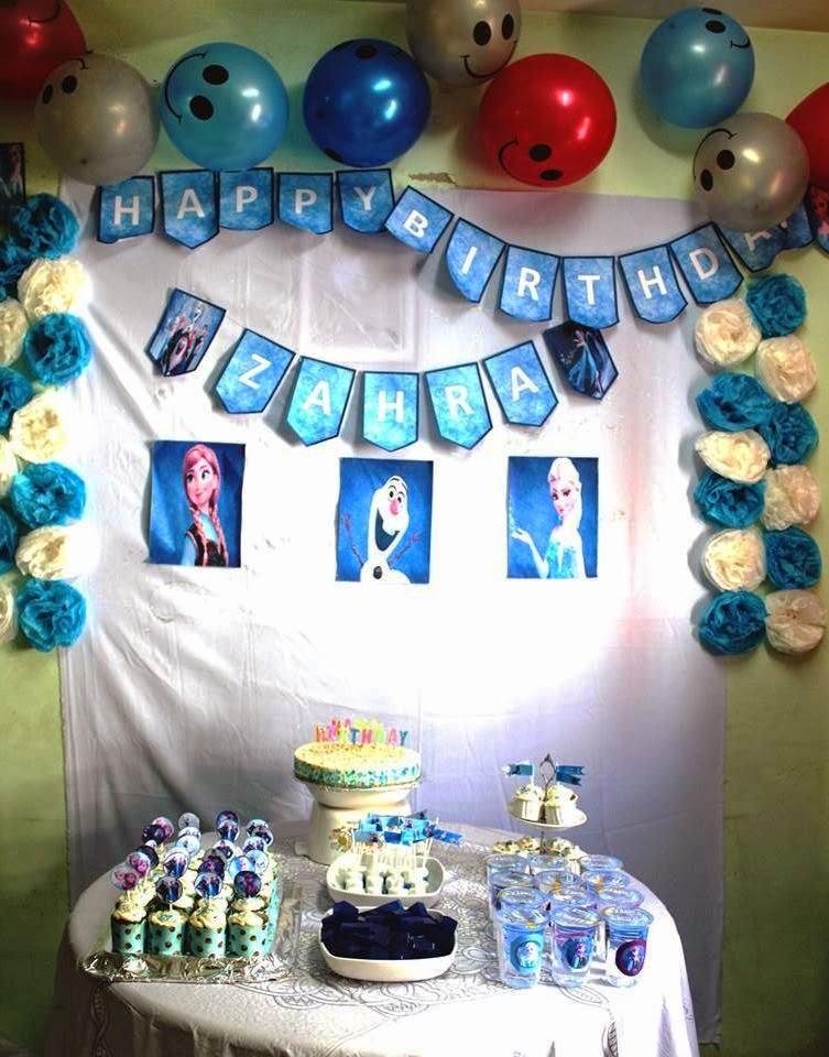 Zahra Frozen Birthday Party shamieraosment